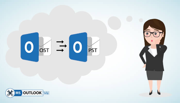 Perform conversion of ost to pst