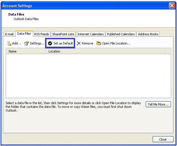 error in Outlook